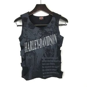 Harley Davidson Black Mesh Tank Top Shirt Small